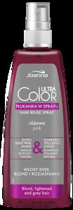 Płukanka w sprayu do włosów Joanna Professional Ultra Color  Różowa 150 ml