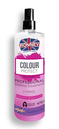 Dwufazowa mgiełka do pielęgnacji włosów farbowanych RONNEY Professional COLOR PROTECT 2-Phase cloured & highlighted hair 475 ml