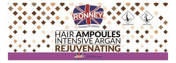 Ampułki Rejuvenating dla włosów suchych i zniszczonych Ronney 10 ml x 12 szt